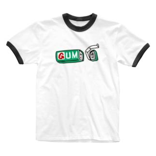 ガムの離別(green) Ringer T-shirts
