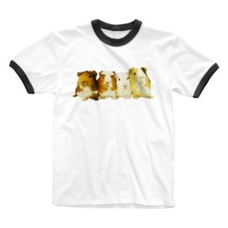男子寮のみなさん Ringer T-shirts