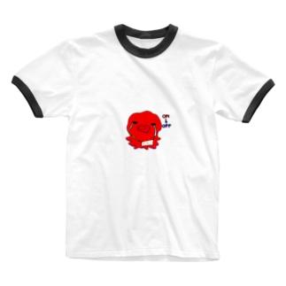 おち。 Ringer T-shirts