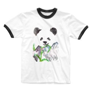 ぱんぱんぱんだ Ringer T-shirts