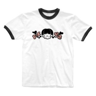 じょし Ringer T-shirts