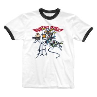 BUNCHO ROCK! Ringer T-shirts