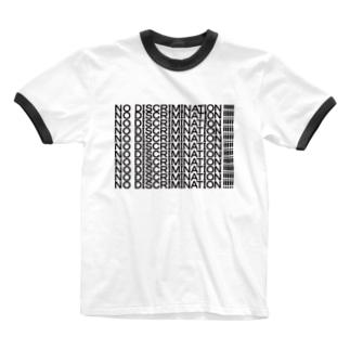 NO DISCRIMINATION!!!!! Ringer T-shirts
