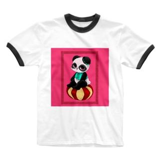 チャイニーズパンダ★みゅんみゅん Ringer T-shirts
