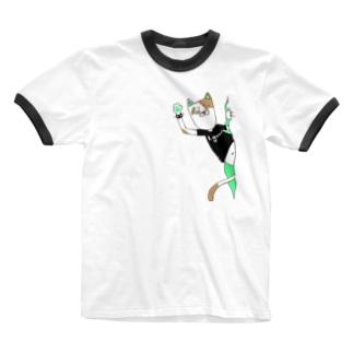 パンクキャット【アイガス】 Ringer T-shirts