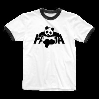 モルTのソファーにのけぞる チョイ悪パンダ Ringer T-shirts