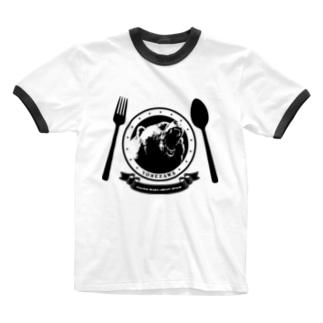 金熊食堂3周年グッズ Ringer T-shirts