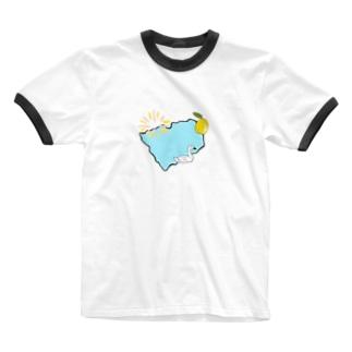 諏訪湖 Ringer T-shirts