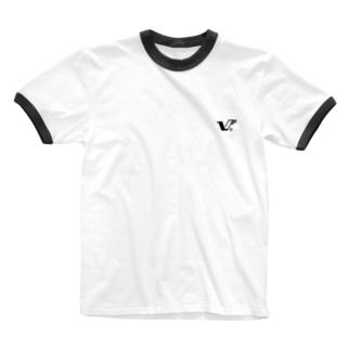 V logo Ringer T-shirts