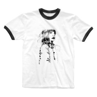 woman drawing Ringer T-shirts