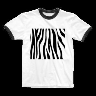 NOMAD-LAB The shopのゼブラ柄 Ringer T-shirts