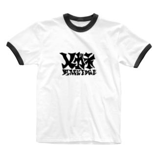 くろぶち Ringer T-shirts