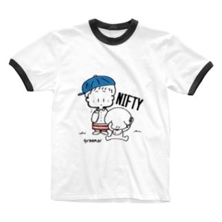(わーくわくシリーズ)トリマーさん(Blue) Ringer T-shirts