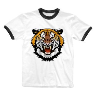 寅! Ringer T-shirts
