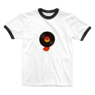 レコードリお日様 -Right Walk Ringer T-shirts