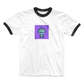 カビポップ Ringer T-shirts