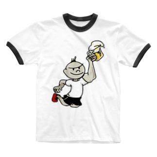 まらそん Ringer T-shirts