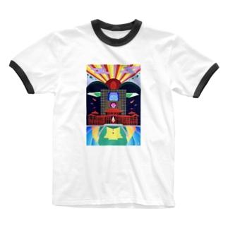 平等院-byodoin- Ringer T-shirts