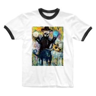 ookami to aoitama Ringer T-shirts