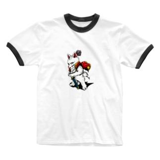 織田犬長 Ringer T-Shirt