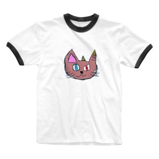 おにねこ Ringer T-shirts