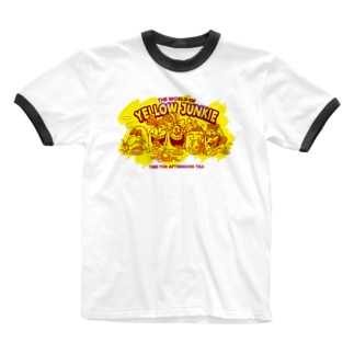 YELLOW JUNKIE「Afternoon Tea」 Ringer T-shirts
