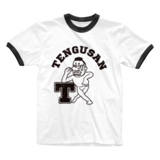 天狗さんカレッジ Ringer T-shirts