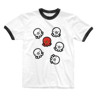 た紅一点 Ringer T-shirts