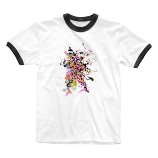 武神 Ringer T-shirts