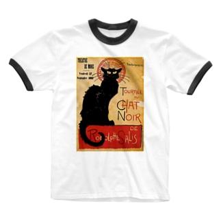 テオフィル・スタンラン 『 黒猫 』 Ringer T-shirts
