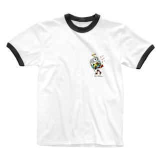 ROBOBO ヨウムのボルトロボ  Ringer T-shirts