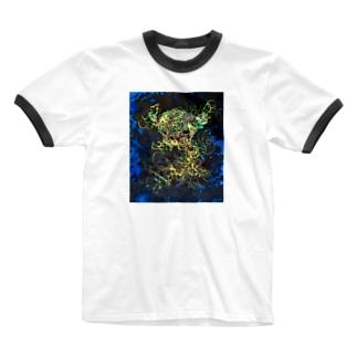 大我 Ringer T-shirts