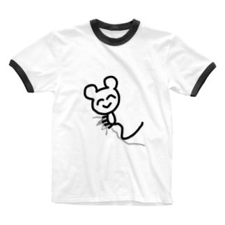 はこざきのティッシュにしがみついてる Ringer T-shirts