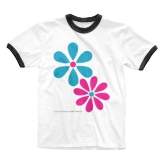 デイジーロゴ Ringer T-shirts