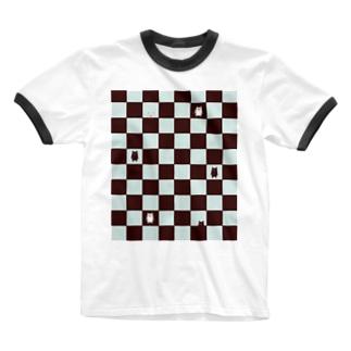 チョコミント Ringer T-shirts