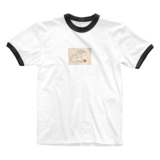 隠遁ねっこ Ringer T-shirts