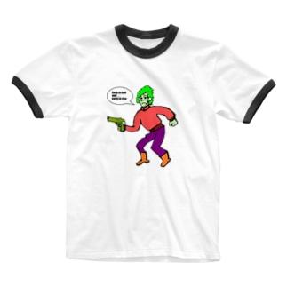早寝早起き Ringer T-shirts