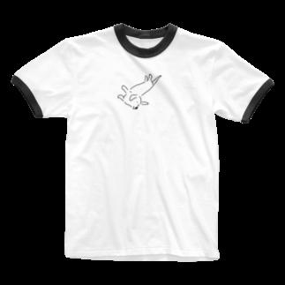 maaaaamomの我が家の動きたくない犬 Ringer T-shirts