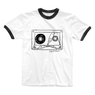 テープの幻 Ringer T-shirts