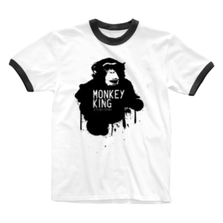 MONKEY KING_BLACK Ringer T-shirts