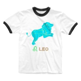 獅子座グッズ Ringer T-shirts