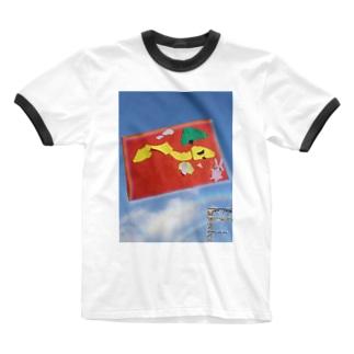 点検電車、走るよー! Ringer T-shirts
