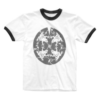 かえるのうた Ringer T-shirts