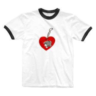 ハ~トのキ~ホルダ~ Ringer T-shirts