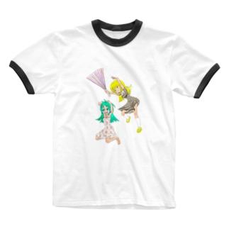 ハリセンアタック Ringer T-shirts