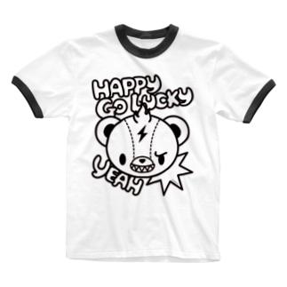 Brat Bear Ringer T-shirts