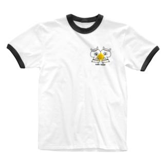 ゆるうさぎ ふたご座 Ringer T-shirts
