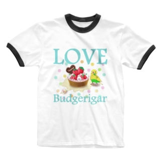 セキセイインコらぶ3(イエローハルクイン) Ringer T-shirts