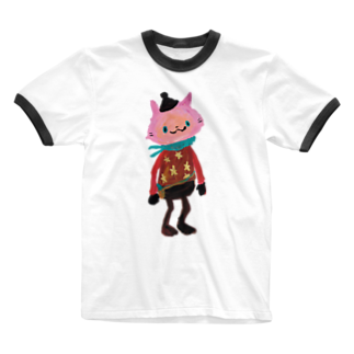 COULEUR PECOE(クルールペコ)  のねこびとさん(Sakura) Ringer T-shirts