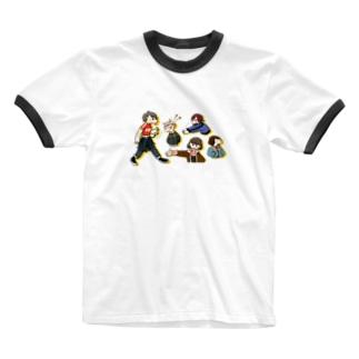 わちゃちゃ Ringer T-shirts